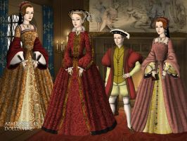 Katherine Parr and the royal children by LadyBolena
