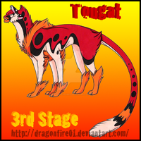 006 Tougat: Female by DracoFeathers