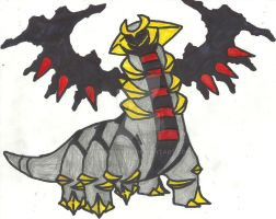 Giratina (Altered Form) Coloured Redone by CoolMan666