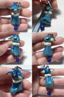 Vaporeon Dangly Bead Charm by ChibiSilverWings