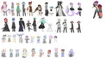 Whoolle bunch of NPC's by Ryis