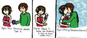 Haruhi's Bestest Christmas by AnotherSasukeFan