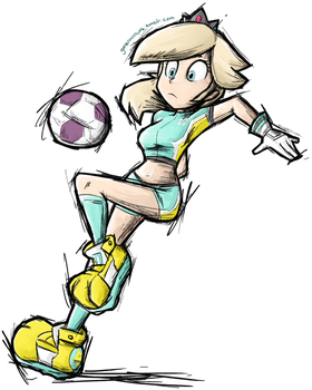 Super Mario Strikers Rosalina by gonenannurs