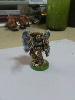 pre-heresy Sanguinary priest from the Blood Angels by Danhte