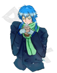 Aoba Winter Stress Relief doodle by Disgaea-3-Lover