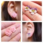 Rose and Pansy Flower Earrings by Nassae