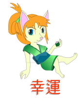 Lucky Cat T-shirt Design by Flying-Fox-Princess