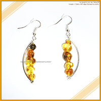 Hand Made Beautiful Elegant Amber Earrings by izka-197