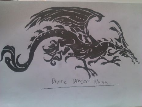 Fire Emblem Awakeing : Divine Dragon Naga by Kingoart