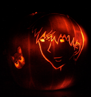 Kyou Sohma Pumpkin Carving by touch-of-jade