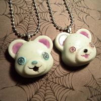 Hungry zombie teddy bears by Lutrasaura