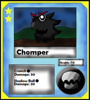 Chomper Card (Adopt) by Dianamond
