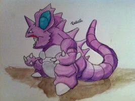 Kanto no. 034 Nidoking by Randomous