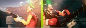 Team Fortress 2 (TF2) - Scout and Heavy by ViewSEPS