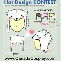 Polar Bear Hat Design by likecolourpencils