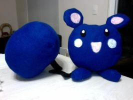 Azurill - plushie - by crystal-studio