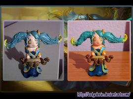 Fimo Sona League of Legends by LadyAlerie