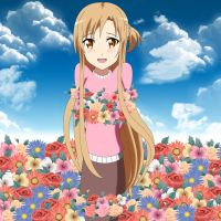 .: Asuna and Roses :. by Sincity2100