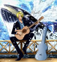 Portada One Piece sanji colored by me by Samanta95