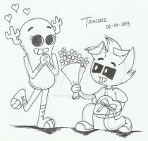 Valentine's Day Gift- J.E. and T.G.B. by DASimsTOON2012