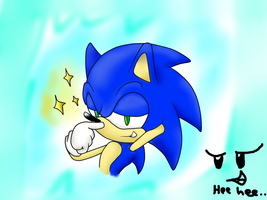 Cocky Sonic Colored by SonicStaryFan
