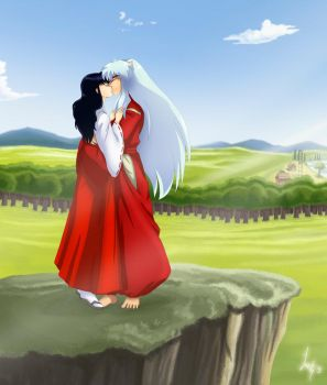 Inuyasha and Kagome by laeity