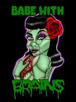 Rockabilly Zombie Girl 2 by Sanguinarian-Craving