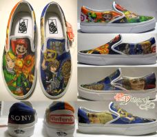 Gamer Shoes by LnknPrk7Snoopy
