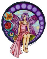 Stained Glass Fairy Colored by OtakuEC
