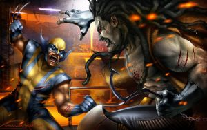 Lobo vs Wolverine by Aioras