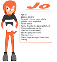 Jo the Echidna by The-Blonde-Nerd