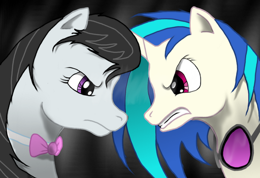 Octavia and Vinyl Scratch, Angry. by Sabellion