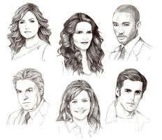 Rizzoli and Isles cast by Lady-Hannah