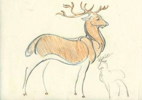 deer sketch by Unita-N
