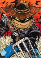 HALLOWE'EN - SCARECROW sketch card by JASONS21