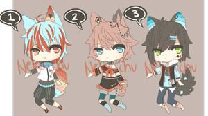 (CLOSED)Adoptable batch 1 by Nekoichu