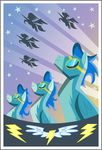 Wonderbolts Poster by uxyd