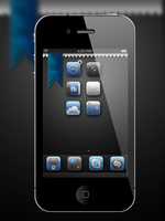 Blue Ribbon iPhone by BomBerOne666