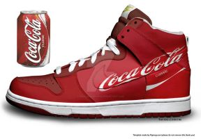 CocaCola Classic Nike Customs by RachaelLoraine