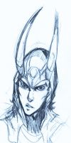 Loki head sketch by XMenouX