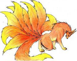 Nine tailed fox by angeldice