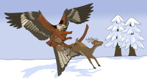 GA Secret Santa - Adoerak in the Snow by Shadow-and-Flame-86