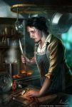 Zoe, the Innsmouth cook by henning