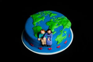 Engagement Cake for Two World Travelers by KayleyMackay