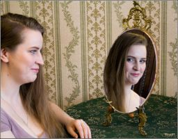 The reflection in the mirror4 by Catya-rina