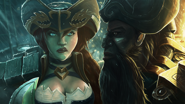 Gangplank And Miss Fortune by HadesPixels