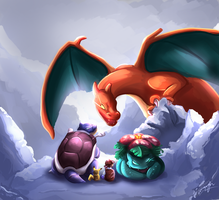 Pokemon: Mt Silver Summit by MoodySmeargle