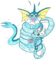 Request Vaporeon Tickle Torture Coiled Tickling by KnightRayjack