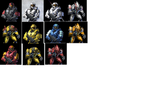 Halo spartans and Elites by Duncannuva
