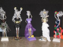 Recycled Fashion Show Trophies: All Girls Together by tinyBIG93